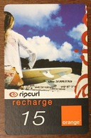 RÉUNION RIP CURL FEMME RECHARGE GSM ORANGE 15 EURO CARTE DE JEU PHONECARD CARD PAS TÉLÉCARTE - Reunion