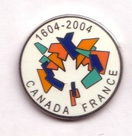 G14 Pin's JUMELAGE Association Canada France 1604 2004 Superbe Qualité Egf Feuille érable Achat Immédiat - Villes