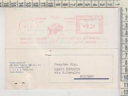 Affrancature Meccaniche Rosse Ema 1952 Legnago Verona Officine Fonderie Bruciatori - Machine Stamps (ATM)