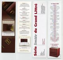 Lot De 2 Marque-page - Le Littré : Edition En Série Limitée Et Grand Dictionnaire Par Universalis - Marque-Pages