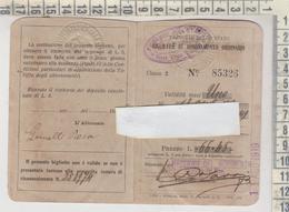 Biglietto Ticket Buillet Ferrovie Dello Stato Messina  / Ali'  Abbonamento Ordinario Mensile  1919 - Season Ticket