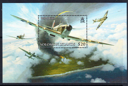 2008 Solomon Islands RAF Air Force Battle Of Britain Spitfires JOINT ISSUE Souvenir Sheet MNH - Salomoninseln (Salomonen 1978-...)