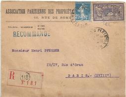 Lettre France Association Parisienne Des Propriétaires - France