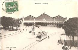 Dépt 45 - ORLÉANS - La Gare - (J. Loddé, édit., Orléans) - Tramway - Orleans