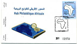 Maroc 2016 Y&T N° 1735 FDC Hub Philatélique Africain - Marruecos (1956-...)