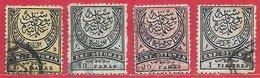 Turquie N°50 à 52 & 53a 1880-84 O - Oblitérés