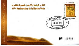 Maroc 2016 Y&T N° 1736 FDC 41° Anniversaire De La Marche Verte - Marruecos (1956-...)