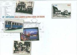 ITALIA ITALY ITALIE 2012 90° ANNIVERSARIO FERROVIA RIMINI - SAN MARINO BUSTA ** - Eisenbahnen