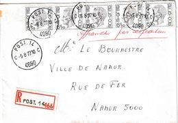 "BSD / FBA : RECOM Bf Met PZ (B) 32.50 Fr ""POST. 14/5.8.77/ C 4090 C"" +""Affr Par Exped."" En Giriffe ""POST. 14"" Naar NAMUR - Postmark Collection"