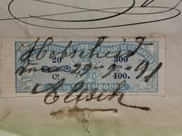 Facture, J. Weil. Mertzig 1891 Avec Timbre Taxe Luxembourg Et Taxe Allemagne . Très Rare - Taxes