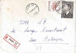 "BSD / FBA : RECOM Bf Met PZ (B) 59 Fr "" POST. 10 / 2.6.81/ B 4090 B"" + Griffe ""POST. 10"" Van RBS Lüdenscheid Naar B - Postmark Collection"