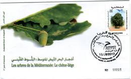 Maroc 2017 Y&T N° 1749 FDC Euromed Postal Arbre - Marruecos (1956-...)