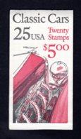 ETATS-UNIS 1988 - Carnet Yvert C 1822 - Scott #2385a - NEUF** MNH - Automobiles Anciennes, Classic Cars - 1981-...