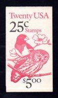 ETATS-UNIS 1988 - Carnet Yvert C 1813 - Scott #2285b - NEUF** MNH - Faune, Oiseaux - 1981-...