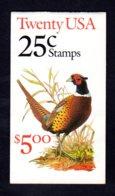 ETATS-UNIS 1988 - Carnet Yvert C 1809 - Scott #2283a - NEUF** MNH - Faune, Coq Faisan - 1981-...
