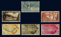ITALY ITALIA REGNO 1926-35 6 FRANCOBOLLI DI POSTA AEREA (Sass. 3, 42-43, 90-92) USATI - 1900-44 Victor Emmanuel III