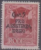 Egeo Occupazione Tedesca 1943 Pro Assistenza 5c. SaN°118 MNH/** Vendere Scansione - Isole Jonie