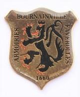 F10 Pin's Bournainville Faverolles Lion Armoiries écusson Blason Eure Achat Immédiat - Villes