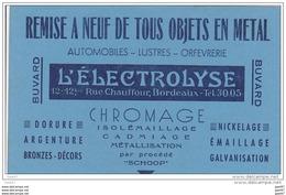 """BUVARD  Réf-JP-www-Q-715 ( Avec PUB )  Remise  A Neuf  De Méteaux Avec  """"""""  L'ELECTROLYSE  """""""" - Wash & Clean"""