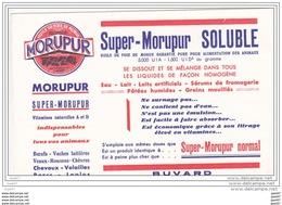 """BUVARD  Réf-JP- Ww-51 (  Avec PUB  )  MORUPUR SOLUBLE   """""""""""""""" Indispensable Pour Vos ANIMAUX  """"""""""""""""' - Buvards, Protège-cahiers Illustrés"""