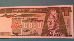Billet Guatemala 0.50 Quetzal - 1988 - Guatemala