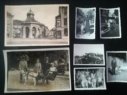 LOT 6 PHOTO ATTELAGE CHÈVRE PARC DE SPA LIÈGE WALLONIE FAMILLE HOMME FEMME VOITURE ANCIENNE AUTO CARTE POSTALE  POUHON - Lieux