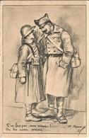 ILLUSTRATEUR P. REMY MILITARIA  T'EN FAIS PAS MON VIEUX...ON LES AURA ENCORE 1940 TBE - Andere Zeichner
