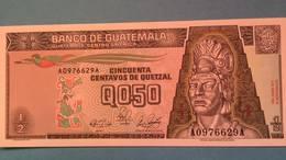Billet Guatemala 0.50 Quetzal - 1989 - Guatemala