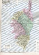 CARTE GEOGRAPHIQUE 1880 FRANCE DEPARTEMENT DE LA CORSE PLAN D AJACCIO PAR MALTE BRUN - Cartes Géographiques