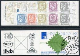 FINLAND 1987 FINLANDIA 88 5 Mk. Complete Booklet MNH / **.  Michel MH 19 - Booklets