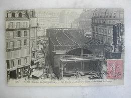 METRO - PARIS - Travaux Du Métropolitain - Les Fermes Du Boulevard Saint André Avant Le Fonçage (animée) - Subway