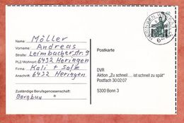 Karte, Bavaria Muenchen, Heringen Nach Bonn 1990 (92858) - Storia Postale