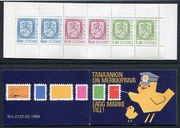 FINLAND 1989 Lion Definitive 5 Mk. Complete Booklet On Phosphor Paper MNH / **.  Michel MH 22y - Markenheftchen