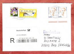 Einschreiben Reco, Esther Von Kirchbach Im Waagrechten Paar U.a., Hamburg Nach Bad Saeckingen 2008 (92859) - Lettres & Documents