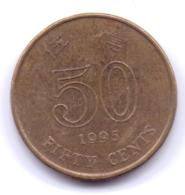 HONG KONG 1995: 50 Cents, KM 68 - Hong Kong