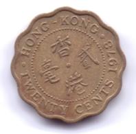 HONG KONG 1978: 20 Cents, KM 36 - Hong Kong