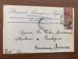 S. ANGELO DI BROLO (MESSINA) RICCIARDI ANTONINO & FIGLI  COMMERCIANTI  1927 - Messina