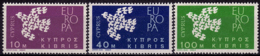 Chypre - Europa CEPT 1961 - Yvert Nr. 189/191 - Michel Nr. 197/199  ** - 1961