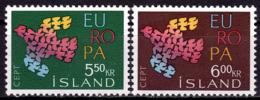 Islande - Europa CEPT 1961 - Yvert Nr. 311/312 - Michel Nr. 354/355  ** - 1961