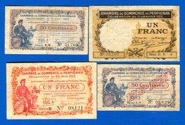 Perpignan  4  Billets - Chambre De Commerce