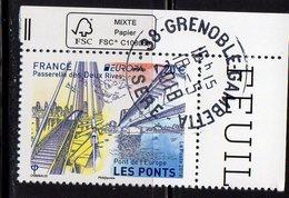 France 2018.Europa Pont De L'Europe.Passerelle Des Deux Rives.Cachet Rond Gomme D'Origine. - Gebraucht