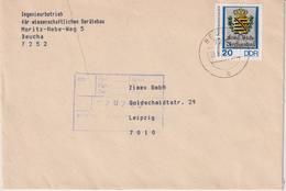 DDR, Brief Aus Beucha Vom 28.06.1990 - DDR