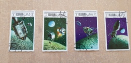 Ras Al Khaima - SPAZIO, Apollo X, Luna, Satellite - SPACE, Moon - 4val. - Espacio