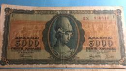 Billet Grèce 5000 Drahme - 1943 - Grèce