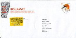 Portugal Cover Sent To Denmark Matosinhos 4-7-2000 Single Stamped BIRD - 1910-... République