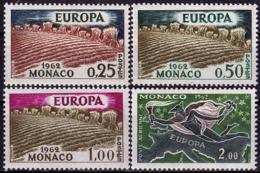Monaco - Europa CEPT 1962 - Yvert Nr. 571/573, PA 79 - Michel Nr. 695/698  ** - Europa-CEPT