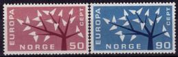 Norvège - Europa CEPT 1962 - Yvert Nr. 433/434 - Michel Nr. 476/477  ** - Europa-CEPT