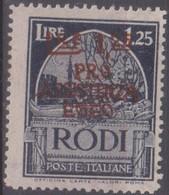 Egeo Occupazione Tedesca 1943 Pro Assistenza 1,25c. SaN°124 MNH/** Vendere Scansione - Isole Jonie