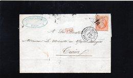 CG24 -  Lettera Da Paris N.Bourg-L'Arbre 8/9/1863 Per Torino - 1849-1876: Periodo Classico