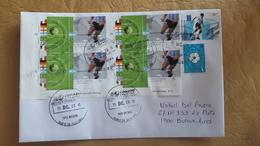 Enveloppe Argentine Distribuée Avec Les Timbres Du Football Mondial 2002 Et Autres - Argentina